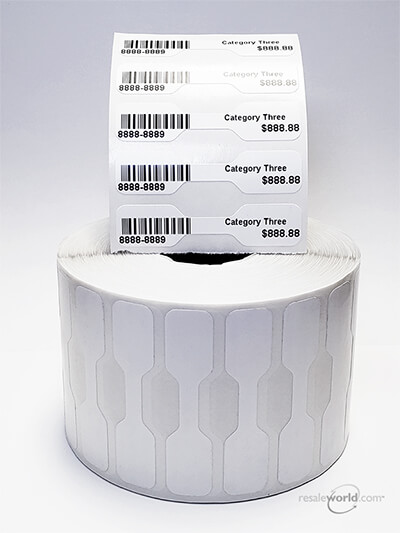 """Thermal Jewelry Tags, 0.5"""" x 2.1875"""""""