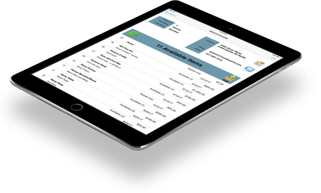 Liberty Item Entry Screen App