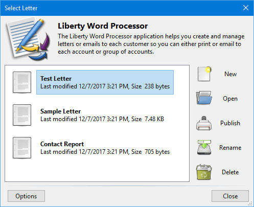 Liberty Word Processor