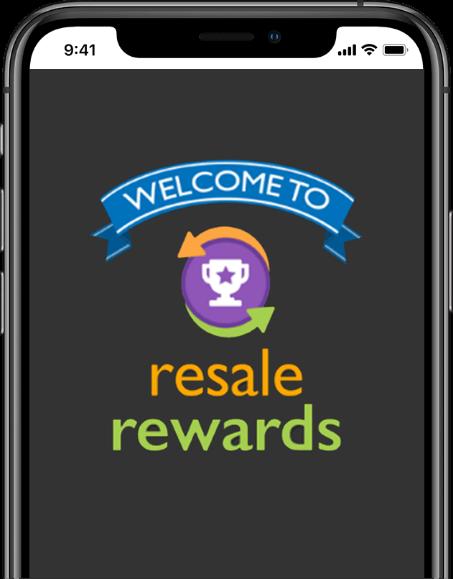 Resale Rewards App Screen Logo